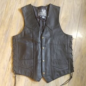 """""""Live to Ride"""" """"Ride to Live"""" Leather Vest"""